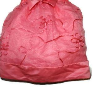 Rare Editions Dresses - Rare Editions Pink Satin Chiffon 2T